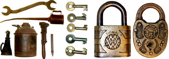 Railroad Locks, Keys, & Tools